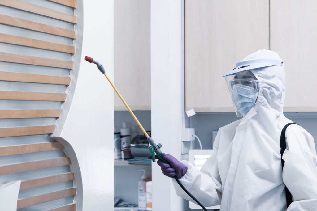 Worker,From,Decontamination,Services,Wearing,Personal,Protective,Equipment,Or,Ppe