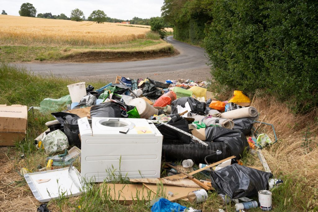 Much,Hadham,,Hertfordshire.,Uk.,June,28th,2020.,Illegal,Fly,Tipping